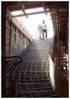 تنفيذ السلالم الخرسانية صورة كتاب