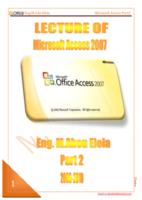 شرح access 2007  الجزء الثانى صورة كتاب