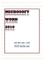 MICROSOFT WORD  2010 صورة كتاب