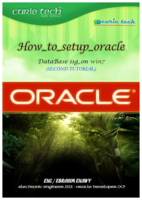 HOW TO SETUP ORACLE 11G.pdf صورة كتاب