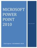 MICROSOFT POWER POINT 2010 صورة كتاب