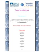 Types of Adjectives صورة كتاب