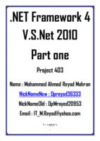 .Net FrameWork 4.0 - Part one صورة كتاب
