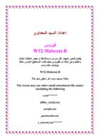 معلومات عن فيروس W32.Mabezat.B صورة كتاب