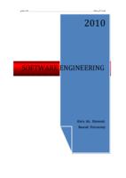 هندسة البرامجيات - الفصل الاول صورة كتاب