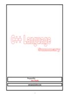 مقدمة في البرمجة بلغة ++C صورة كتاب