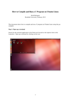 How to Compile and Run a C Program on Ubuntu Linuxصورة كتاب