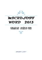 MICROSOFT WORD 2013 صورة كتاب