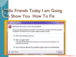 ?How to fix Windows detected a hard disk problemصورة كتاب