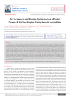Performance and Design Optimization of Solar Powered Stirling Engine Using Genetic Algorithm صورة كتاب