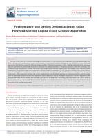 Performance and Design Optimization of Solar Powered Stirling Engine Using Genetic Algorithm صورة كتاب