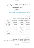 تصريف-الافعال-الشاذة-في-اللغة-الالمانية-في-الحاضرصورة كتاب