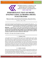 Performance Test of Diesel Engines using Jatropha-Diesel Fuels Blends صورة كتاب