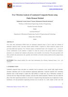 Free Vibration Analysis of Laminated Composite Beams using Finite Element Method صورة كتاب