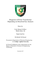 Dissolved Gas Analysis صورة كتاب