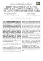 EFFECT OF REVERSING LAMINATION SCHEME OF LAYERS ON BUCKLING LOAD FOR LAMINATED COMPOSITE DECKS PLATES صورة كتاب