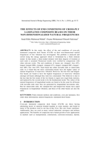 THE EFFECTS OF END CONDITIONS OF CROSS-PLY LAMINATED COMPOSITE BEAMS ON THEIR NON-DIMENSIONALIZED NATURAL FREQUENCIESصورة كتاب