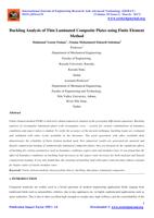 Buckling Analysis of Thin Laminated Composite Plates using Finite Element Method  صورة كتاب