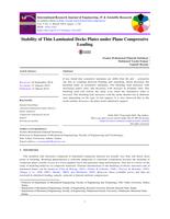 Stability of Thin Laminated Decks Plates under Plane Compressive Loading صورة كتاب