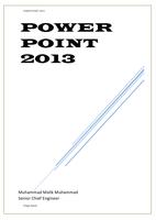 MICROSOFT POWER POINT 2013 صورة كتاب