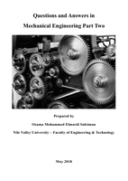 Questions and Answers in Mechanical Engineering Part Twoصورة كتاب