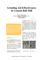 Grinding Aid Effectiveness in Cement Ball Mill صورة كتاب