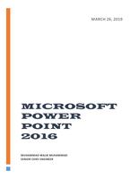 MICROSOFT POWER POINT 2016 صورة كتاب